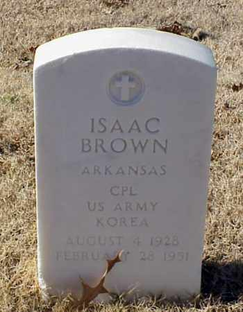 BROWN (VETERAN KOR), ISAAC - Pulaski County, Arkansas | ISAAC BROWN (VETERAN KOR) - Arkansas Gravestone Photos