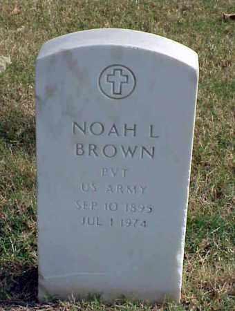 BROWN (VETERAN WWI), NOAH L - Pulaski County, Arkansas | NOAH L BROWN (VETERAN WWI) - Arkansas Gravestone Photos