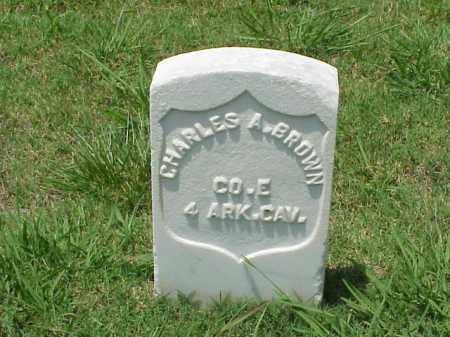 BROWN (VETERAN UNION), CHARLES A - Pulaski County, Arkansas | CHARLES A BROWN (VETERAN UNION) - Arkansas Gravestone Photos