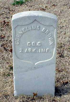 BROWN (VETERAN UNION), CORNELIUS - Pulaski County, Arkansas | CORNELIUS BROWN (VETERAN UNION) - Arkansas Gravestone Photos