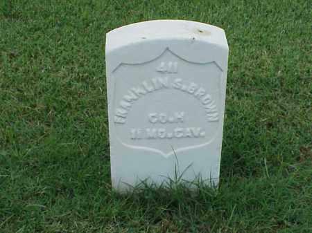 BROWN (VETERAN UNION), FRANKLIN S - Pulaski County, Arkansas   FRANKLIN S BROWN (VETERAN UNION) - Arkansas Gravestone Photos