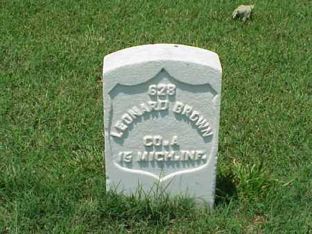 BROWN (VETERAN UNION), LEONARD - Pulaski County, Arkansas | LEONARD BROWN (VETERAN UNION) - Arkansas Gravestone Photos