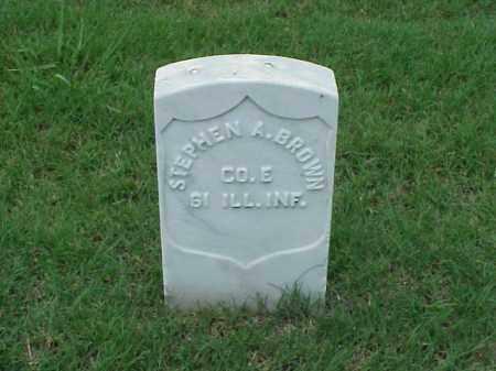 BROWN (VETERAN UNION), STEPHEN A - Pulaski County, Arkansas   STEPHEN A BROWN (VETERAN UNION) - Arkansas Gravestone Photos