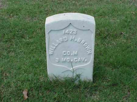 BROWN (VETERAN UNION), WILLARD H - Pulaski County, Arkansas | WILLARD H BROWN (VETERAN UNION) - Arkansas Gravestone Photos