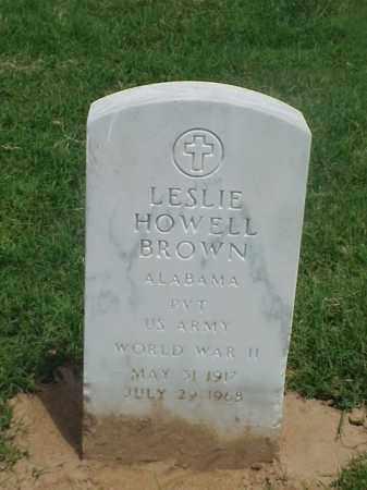 BROWN (VETERAN WWII), LESLIE HOWELL - Pulaski County, Arkansas | LESLIE HOWELL BROWN (VETERAN WWII) - Arkansas Gravestone Photos