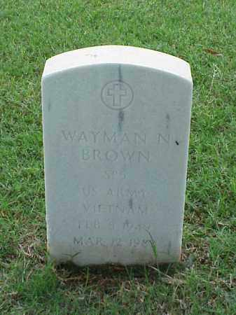 BROWN (VETERAN VIET), WAYMAN N - Pulaski County, Arkansas | WAYMAN N BROWN (VETERAN VIET) - Arkansas Gravestone Photos