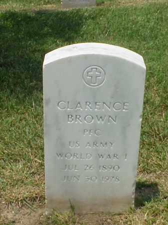 BROWN (VETERAN WWI), CLARENCE - Pulaski County, Arkansas   CLARENCE BROWN (VETERAN WWI) - Arkansas Gravestone Photos
