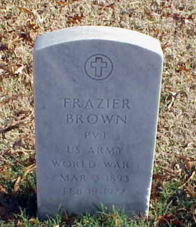 BROWN (VETERAN WWI), FRAZIER - Pulaski County, Arkansas   FRAZIER BROWN (VETERAN WWI) - Arkansas Gravestone Photos