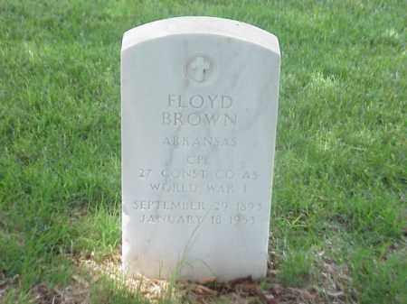BROWN (VETERAN WWI), FLOYD - Pulaski County, Arkansas   FLOYD BROWN (VETERAN WWI) - Arkansas Gravestone Photos