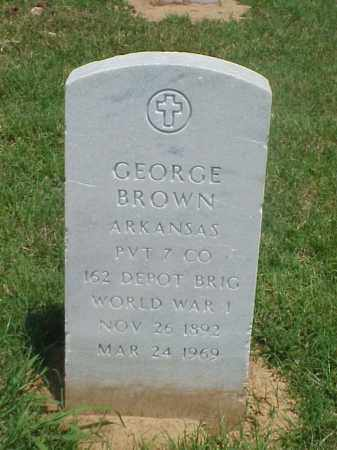 BROWN (VETERAN WWI), GEORGE - Pulaski County, Arkansas | GEORGE BROWN (VETERAN WWI) - Arkansas Gravestone Photos