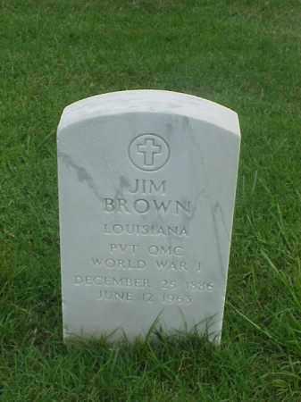 BROWN (VETERAN WWI), JIM - Pulaski County, Arkansas | JIM BROWN (VETERAN WWI) - Arkansas Gravestone Photos