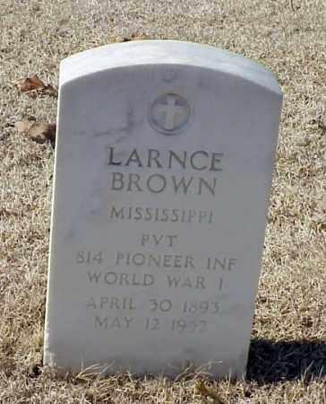 BROWN (VETERAN WWI), LARNCE - Pulaski County, Arkansas | LARNCE BROWN (VETERAN WWI) - Arkansas Gravestone Photos