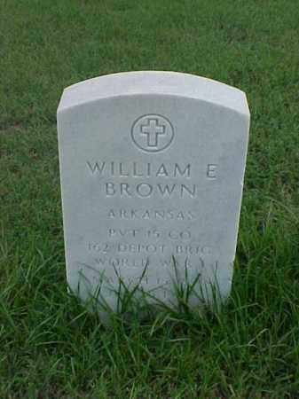 BROWN (VETERAN WWI), WILLIAM E - Pulaski County, Arkansas | WILLIAM E BROWN (VETERAN WWI) - Arkansas Gravestone Photos