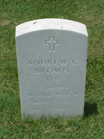 BROWN (VETERAN WWII), ANDREW C - Pulaski County, Arkansas | ANDREW C BROWN (VETERAN WWII) - Arkansas Gravestone Photos