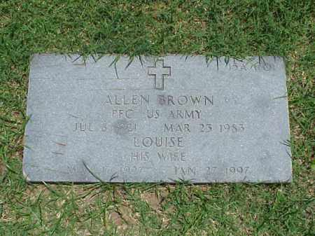 BROWN (VETERAN WWII), ALLEN - Pulaski County, Arkansas | ALLEN BROWN (VETERAN WWII) - Arkansas Gravestone Photos