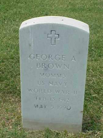 BROWN (VETERAN WWII), GEORGE A - Pulaski County, Arkansas | GEORGE A BROWN (VETERAN WWII) - Arkansas Gravestone Photos