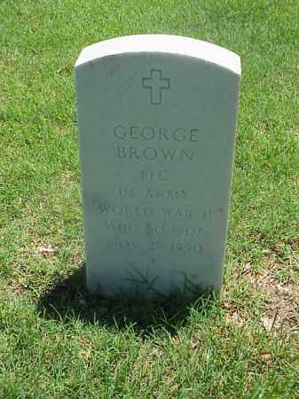 BROWN (VETERAN WWII), GEORGE - Pulaski County, Arkansas | GEORGE BROWN (VETERAN WWII) - Arkansas Gravestone Photos