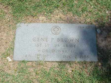 BROWN (VETERAN WWII), GENE P - Pulaski County, Arkansas | GENE P BROWN (VETERAN WWII) - Arkansas Gravestone Photos