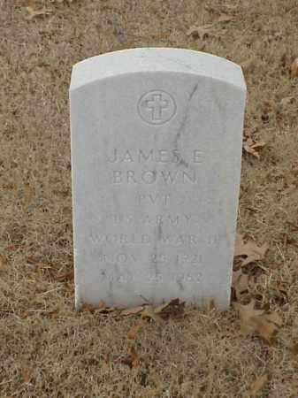 BROWN (VETERAN WWII), JAMES E - Pulaski County, Arkansas | JAMES E BROWN (VETERAN WWII) - Arkansas Gravestone Photos