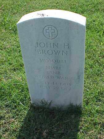 BROWN (VETERAN WWII), JOHN H - Pulaski County, Arkansas | JOHN H BROWN (VETERAN WWII) - Arkansas Gravestone Photos