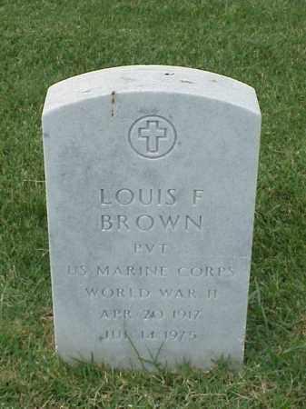 BROWN (VETERAN WWII), LOUIS F - Pulaski County, Arkansas | LOUIS F BROWN (VETERAN WWII) - Arkansas Gravestone Photos