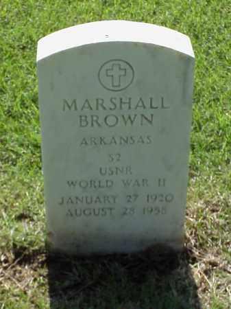 BROWN (VETERAN WWII), MARSHALL - Pulaski County, Arkansas | MARSHALL BROWN (VETERAN WWII) - Arkansas Gravestone Photos