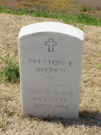BROWN (VETERAN WWII), PRESTON E - Pulaski County, Arkansas | PRESTON E BROWN (VETERAN WWII) - Arkansas Gravestone Photos