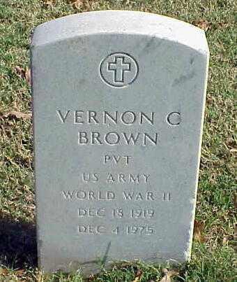 BROWN (VETERAN WWII), VERNON C - Pulaski County, Arkansas   VERNON C BROWN (VETERAN WWII) - Arkansas Gravestone Photos