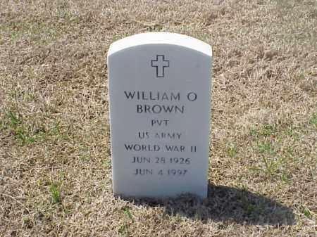 BROWN (VETERAN WWII), WILLIAM O - Pulaski County, Arkansas | WILLIAM O BROWN (VETERAN WWII) - Arkansas Gravestone Photos