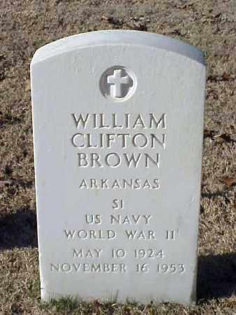 BROWN (VETERAN WWII), WILLIAM CLIFTON - Pulaski County, Arkansas   WILLIAM CLIFTON BROWN (VETERAN WWII) - Arkansas Gravestone Photos
