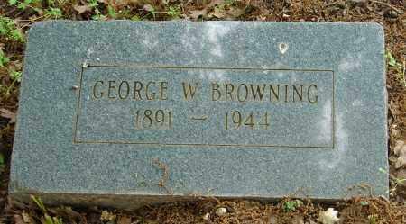 BROWNING, GEORGE W. - Pulaski County, Arkansas   GEORGE W. BROWNING - Arkansas Gravestone Photos