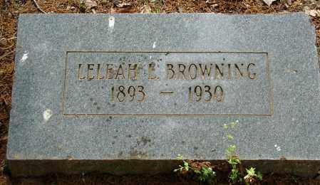 BROWNING, LELEAH L. - Pulaski County, Arkansas | LELEAH L. BROWNING - Arkansas Gravestone Photos