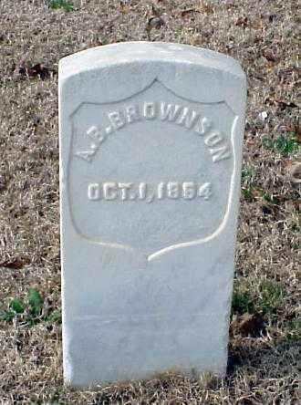 BROWNSON (VETERAN UNION), A B - Pulaski County, Arkansas   A B BROWNSON (VETERAN UNION) - Arkansas Gravestone Photos