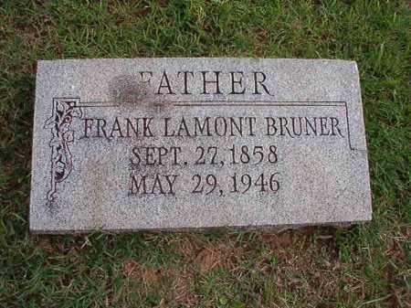 BRUNER, FRANK LAMONT - Pulaski County, Arkansas | FRANK LAMONT BRUNER - Arkansas Gravestone Photos