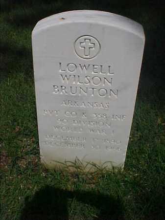 BRUNTON (VETERAN WWI), LOWELL WILSON - Pulaski County, Arkansas | LOWELL WILSON BRUNTON (VETERAN WWI) - Arkansas Gravestone Photos