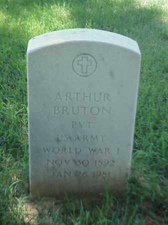 BRUTON (VETERAN WWI), ARTHUR - Pulaski County, Arkansas | ARTHUR BRUTON (VETERAN WWI) - Arkansas Gravestone Photos