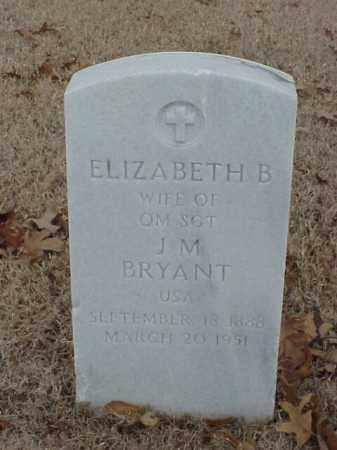BRYANT, ELIZABETH B - Pulaski County, Arkansas | ELIZABETH B BRYANT - Arkansas Gravestone Photos