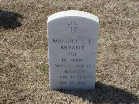 BRYANT (VETERAN 2 WARS), MANUEL L C - Pulaski County, Arkansas | MANUEL L C BRYANT (VETERAN 2 WARS) - Arkansas Gravestone Photos