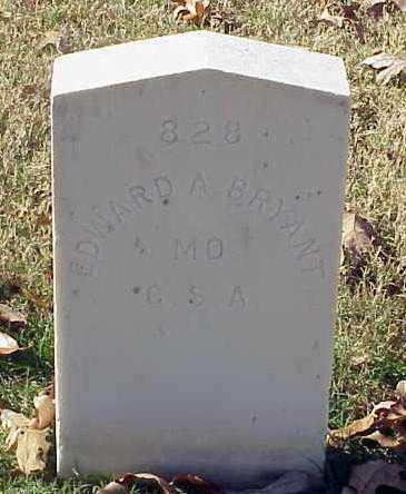 BRYANT (VETERAN CSA), EDWARD A - Pulaski County, Arkansas   EDWARD A BRYANT (VETERAN CSA) - Arkansas Gravestone Photos
