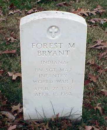 BRYANT (VETERAN WWI), FOREST M - Pulaski County, Arkansas | FOREST M BRYANT (VETERAN WWI) - Arkansas Gravestone Photos