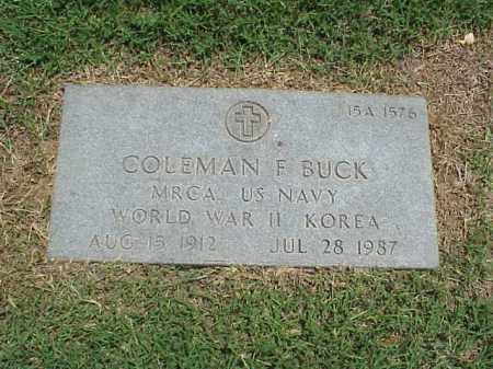 BUCK (VETERAN 2 WARS), COLEMAN F - Pulaski County, Arkansas   COLEMAN F BUCK (VETERAN 2 WARS) - Arkansas Gravestone Photos