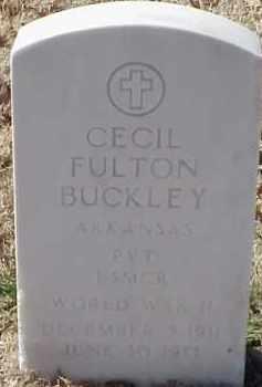 BUCKLEY  (VETERAN WWII), CECIL FULTON - Pulaski County, Arkansas | CECIL FULTON BUCKLEY  (VETERAN WWII) - Arkansas Gravestone Photos