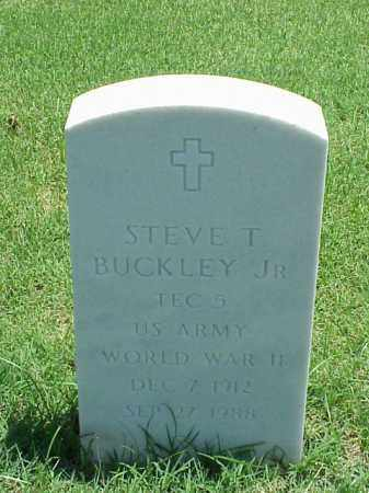 BUCKLEY, JR (VETERAN WWII), STEVE T - Pulaski County, Arkansas   STEVE T BUCKLEY, JR (VETERAN WWII) - Arkansas Gravestone Photos