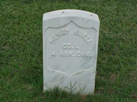 BUELL (VETERAN UNION), HENRY - Pulaski County, Arkansas | HENRY BUELL (VETERAN UNION) - Arkansas Gravestone Photos