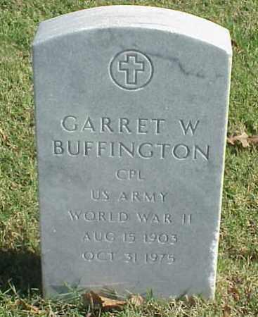 BUFFINGTON (VETERAN WWII), GARRET W - Pulaski County, Arkansas | GARRET W BUFFINGTON (VETERAN WWII) - Arkansas Gravestone Photos