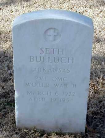 BULLUCH (VETERAN WWII), SETH - Pulaski County, Arkansas | SETH BULLUCH (VETERAN WWII) - Arkansas Gravestone Photos