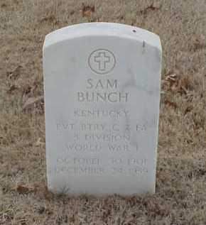 BUNCH  (VETERAN WWI), SAM - Pulaski County, Arkansas | SAM BUNCH  (VETERAN WWI) - Arkansas Gravestone Photos