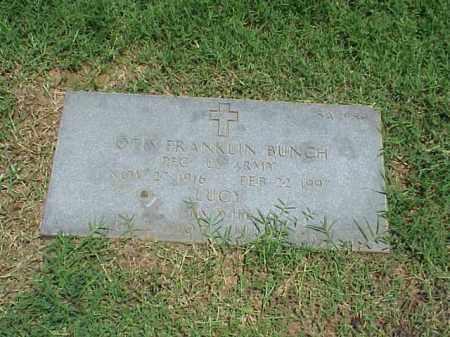 BUNCH (VETERAN WWII), OTIS FRANKLIN - Pulaski County, Arkansas   OTIS FRANKLIN BUNCH (VETERAN WWII) - Arkansas Gravestone Photos