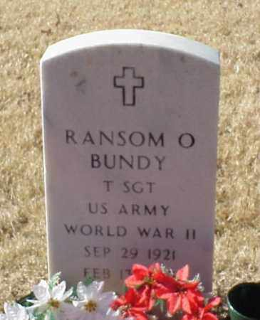 BUNDY (VETERAN WWII), RANSOM O - Pulaski County, Arkansas   RANSOM O BUNDY (VETERAN WWII) - Arkansas Gravestone Photos
