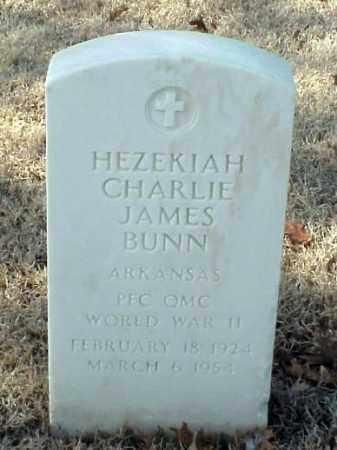 BUNN (VETERAN WWII), HEZEKIAH CHARLIE JAMES - Pulaski County, Arkansas | HEZEKIAH CHARLIE JAMES BUNN (VETERAN WWII) - Arkansas Gravestone Photos